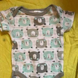 One Pieces - 4 onesies. 1 newborn, 3 0-3 month old.